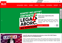 First screen capture by European Democracy Consulting's Logos Project for Sojusz Lewicy Demokratycznej