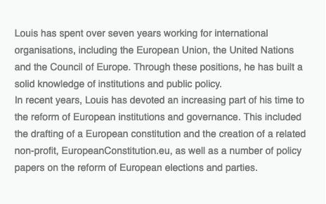 Work experience - Louis Drounau
