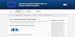 APPF Website - European political parties - short 2